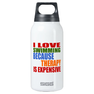Swimming Is My Therapy Insulated Water Bottle