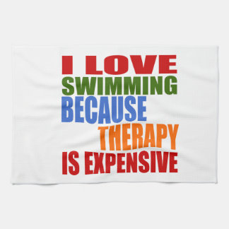 Swimming Is My Therapy Kitchen Towel