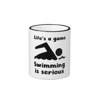 Swimming Is Serious Mugs