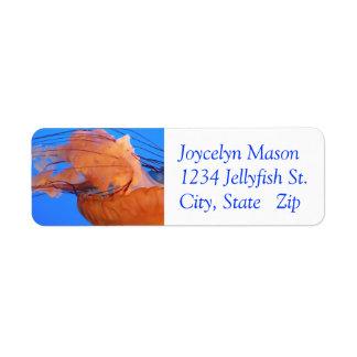Swimming Jellyfish Return Address Labels
