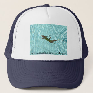 Swimming Lizard - reverse Trucker Hat