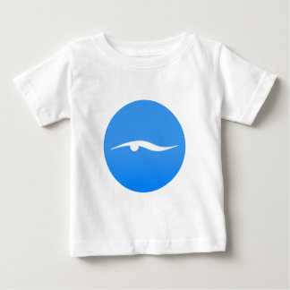 Swimming logo on T-shirt
