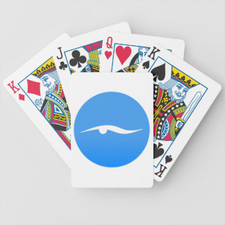 Swimming logo on T-shirt Bicycle Playing Cards