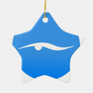 Swimming logo on T-shirt Ceramic Ornament