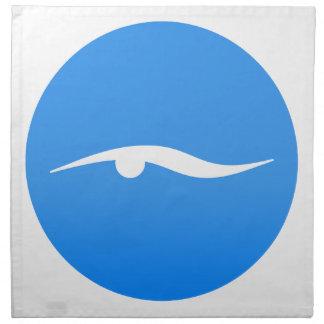 Swimming logo on T-shirt Napkin