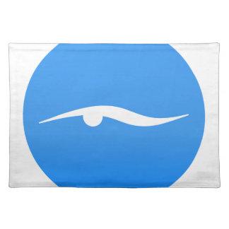 Swimming logo on T-shirt Placemat