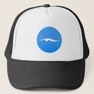 Swimming logo on T-shirt Trucker Hat