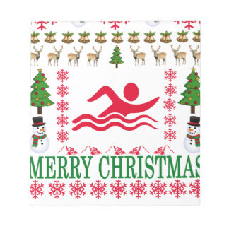 SWIMMING MERRY CHRISTMAS . NOTEPAD