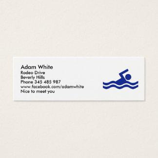 Swimming Mini Business Card