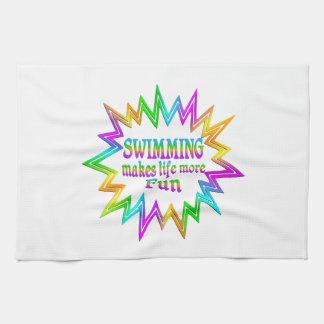 Swimming More Fun Kitchen Towel