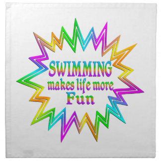 Swimming More Fun Napkin