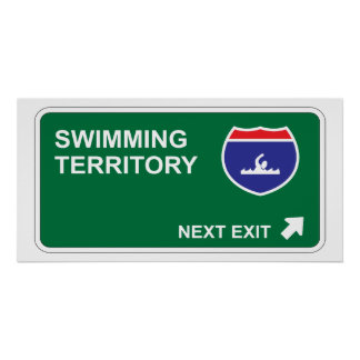 Swimming Next Exit Poster