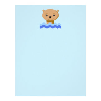 Swimming Otter. Letterhead