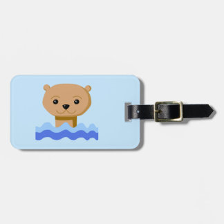 Swimming Otter. Luggage Tag