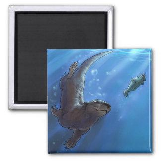 Swimming otter magnet