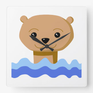 Swimming Otter. Wall Clocks