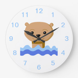 Swimming Otter. Wallclock
