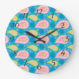 Swimming Paisley Wallclock