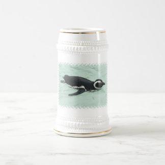 Swimming Penguin Beer Stein