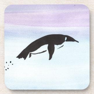 Swimming Penguin Beverage Coaster