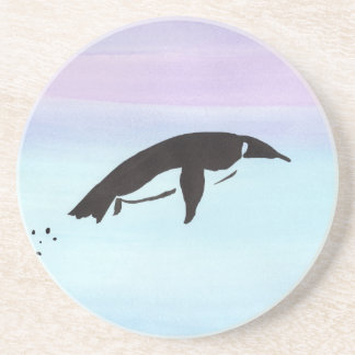 Swimming Penguin Beverage Coasters