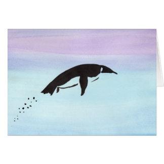 Swimming Penguin Card