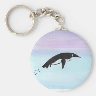 Swimming Penguin Keychain
