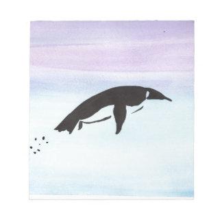 Swimming Penguin Notepad