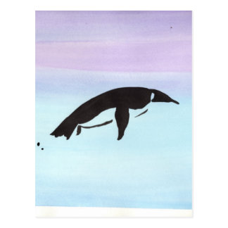 Swimming Penguin Postcard