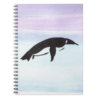 Swimming Penguin Spiral Notebooks