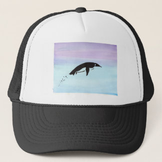 Swimming Penguin Trucker Hat