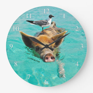 Swimming Pig with a Passenger Clocks
