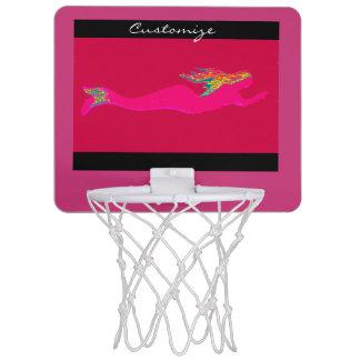 swimming pink mermaid any background Thunder_Cove Mini Basketball Hoop