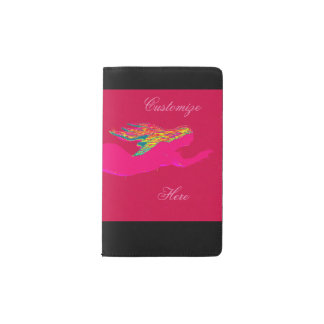 swimming pink mermaid pocket moleskine notebook