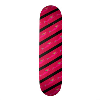 swimming pink mermaids skate deck
