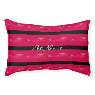 swimming pink mermaids Thunder_Cove red Pet Bed