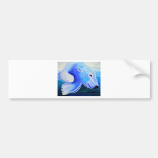 Swimming Polar Bear Bumper Sticker