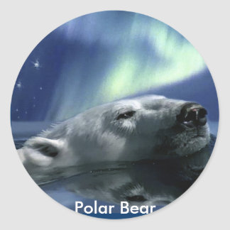 SWIMMING POLAR BEAR Wildlife Support Stickers