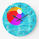 Swimming Pool Beach Ball. Large Clock