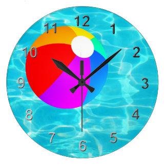 Swimming Pool Beach Ball. Large Clock