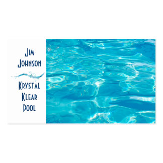 Swimming Pool Blue Business Card