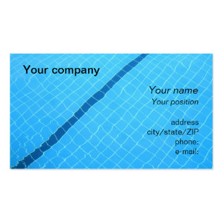 """""""Swimming pool"""" business card"""