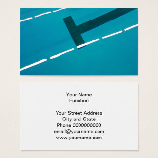 Swimming pool business card template design