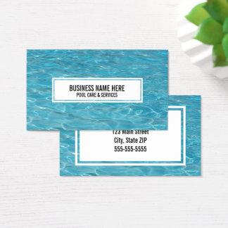 Swimming pool care aqua swim photo business card