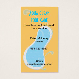 Swimming Pool Care service business cards