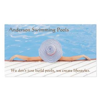 Swimming pool designer business cards