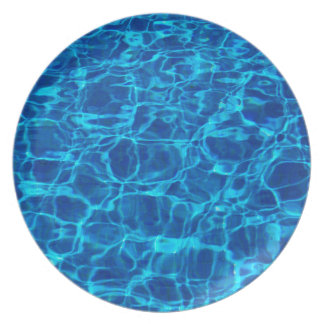 Swimming Pool Dinner Plate