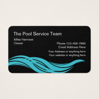 Swimming Pool Modern Service Business Card
