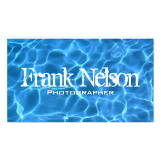 Swimming Pool Profile Card Business Card