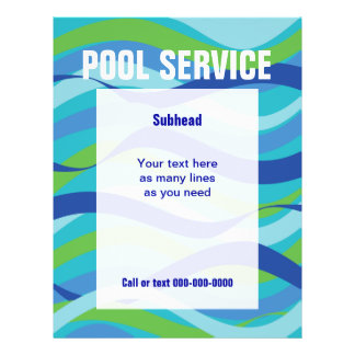 Swimming Pool Service with custom text Flyer